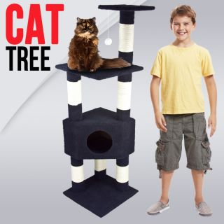 Deluxe 53 Cat Tower Tree w Condo Scratcher Furniture Kitten House