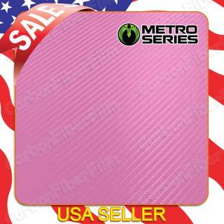 Metro Series Pink 3D Diagonal Carbon Fiber Vinyl Wrap Sheet 2ft x 1ft