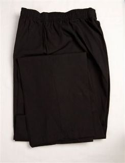 BLACK Elastic Waist Scrub Pants 3x 3XL 3XLARGE Nursing Scrubs   NEW