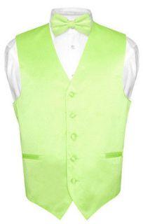 men s lime green dress vest bowtie set for suit or tuxedo