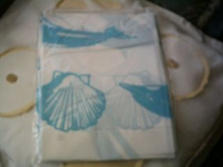 Newly listed Blue & White Dolphin sealife pattern 100% PEVA shower