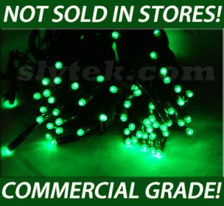 LED 120 HOLIDAY STRING LIGHTS GREEN PARTY St Patricks Day Holiday UL