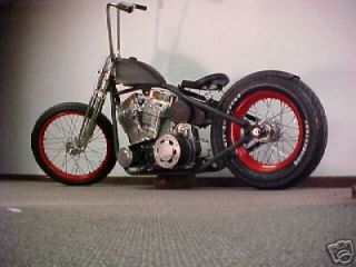 hot rod bobber rolling chassis with drive train the shredder