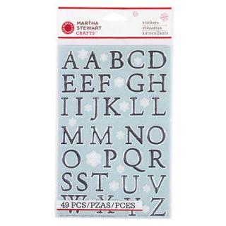 Martha Stewart Crafts Snowflace Large Alphabet Stickers 49 Pieces