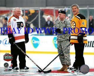 BOBBY ORR Bobby Clarke 2010 Winter Classic Boston Bruins NHL 8X10