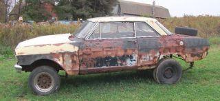 1963 Chevy Nova vintage straight axle gasser rat hot rod project