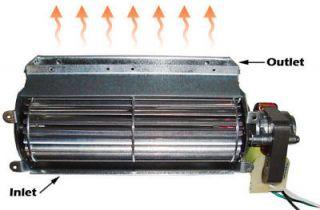NEW Quiet 75 CFM Universal Fireplace Blower Gas Insert Replacement Fan