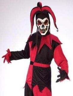 kids evil court jester scary clown halloween costume m one