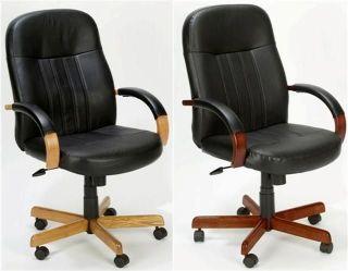 new oak cherry mahogany wood black leather desk chairs time