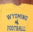 University Of Wyoming Cowboys Bold School Lettering Yellow Large NCAA