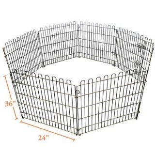 NEPTUNE』36H Zinc Portable Pet Dog Exercise Pen Kennel 8 Ground
