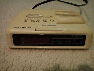 sony icf c25 dream machine digital clock radio fm am