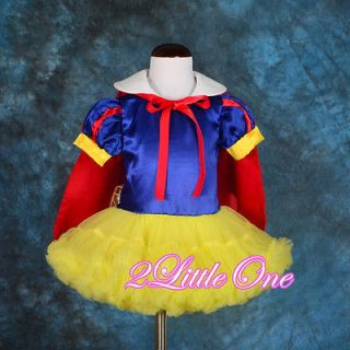 Snow White Fancy Dress Cape Dance Costume Party Halloween Baby Girl