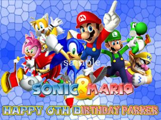 SONIC X RIDERS Edible Birthday CAKE Image Icing Topper