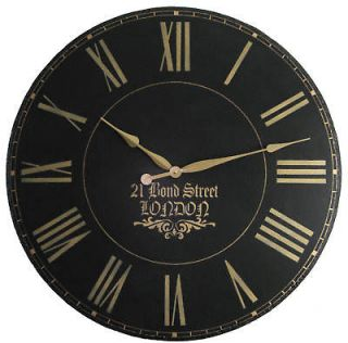 large wall clock 30 antique gallery black big london time