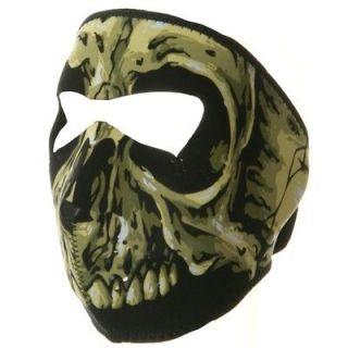 Motorcycle Biker, Ski Mobile Neoprene Face Mask   Skull Three