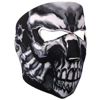 Reversible Motorcycle Biker, Ski Mobile Neoprene Face Mask   Assassin
