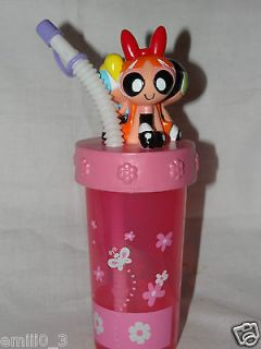 new powerpuff girls 3d tumbler cup with straw time left