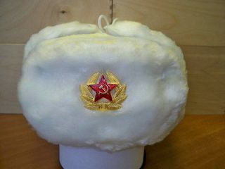 Newly listed RUSSIAN WHITE WINTER SPECIAL FORCES USHANKA HAT, sz.55