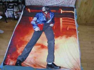 michael jackson MJ Classic This is it Bed sheet Blanket 59.05in X 78
