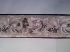 Wallpaper Border 45ft Sherwin Williams Ivy Scroll Beig Time Left