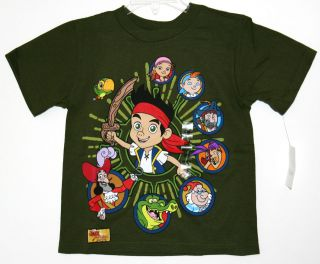 JAKE AND THE NEVER LAND PIRATES BOY TEE TSHIRT NEW W/TAG