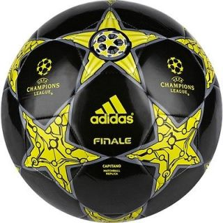 adidas Capitano FINALE UCL 2012 Soccer BALL Black/ Lime Brand New Size