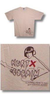 Kurt Cobain Nirvana  NEW Virgin Jag Stang T Shirt Large