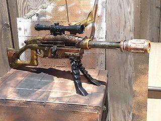 STEAMPUNK MODIFIED bolt action SNIPER Rifle 75+ ft wScope & Bi Pod