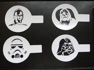 Star Wars Cappuccino Coffee stencil templates smoothies drinks milk