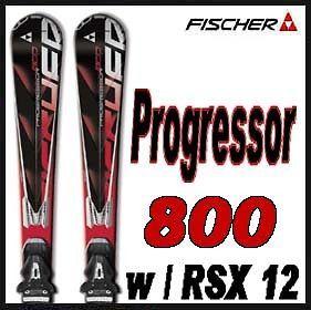 11 12 Fischer Progressor 800 Skis 175cm w/RSX 12 NEW