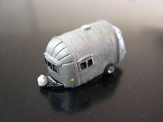 1960s Air Stream Small Camper Trailer #5 N Scale 1/160 Nice Vehicle