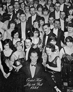 1921 overlook hotel with jack nicholson from the shining time