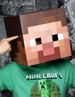 Minecraft 12 Steve Head Costume Mask *New*