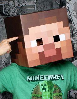 Minecraft 12 Steve Head Costume Mask *New*