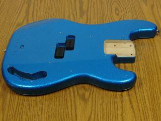 2012 Fender Steve Harris P BASS BODY Precision Guitar Royal Blue $50