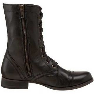 steve madden troopa black womens casual boots size 8 5m