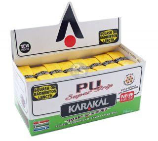 Super PU Replacement Grips Yellow   Tennis   Squash   Badminton
