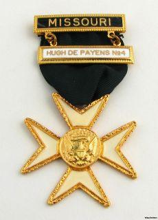 of Malta   Masonic Cross Crest Vintage Member Cross Medal York Rite