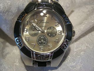 newly listed mens fondini brand watch new battery stainless steel band