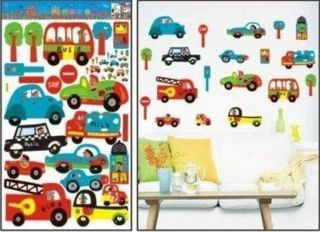Design Childrens Wall Stickers NEW. Fire Engine, Police Car,Bus etc