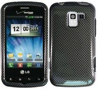 CarbonFiber Straight Talk LG Optimus Q L55C Faceplate Phone Cover Hard