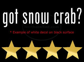 got snow crab vinyl wall art truck car decal sticker
