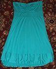 100~NWT Ella Moss Green Strapless Tube Top Jersey Stretch Mini Dress