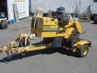 VERMEER SC 252 16 STUMP GRINDER W/ TRAILER KOHLER GAS ENGINE WORKS