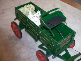 Traditional 1/9 scale hand crafted double box horse drawn farm wagon