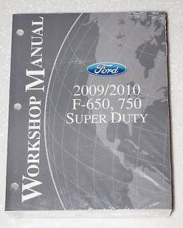 2009 2010 FORD F650 F750 SUPER DUTY TRUCK CAT CUMMINS Shop Service