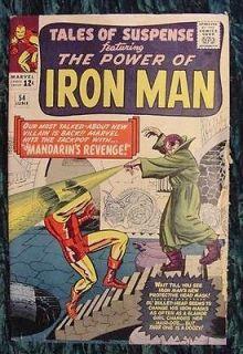 TALES OF SUSPENSE 54 VG IRON MAN vs THE MANDARIN 1964 MARVEL COMIC