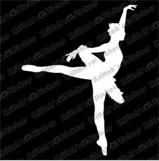 Vinyl Decal 2x3 dance ballet black swan lake car wall sticker K316
