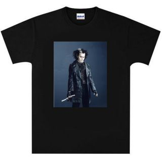 johnny depp sweeney todd t shirt new black or white more options